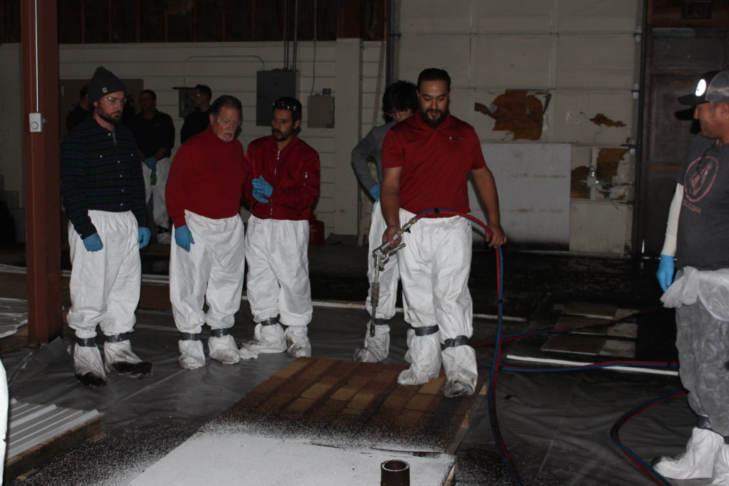 Due to System's thickness and coverage rates, you may need sizable commercial airless equipment to efficiently spray the product.