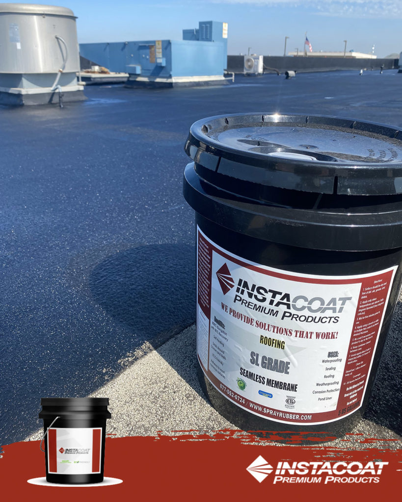"""With our """"Neoprene Liquid Rubber,"""" you can waterproof your whole roof surface."""